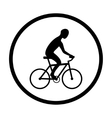 Man on bike silhouette vector image