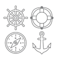 Marine Line Icons vector image vector image