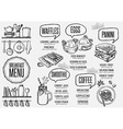 menu breakfast restaurant food template placemat vector image