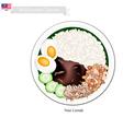 Nasi Lemak or Malaysian Coconut Milk Rice vector image vector image