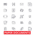 paper documents archive paperwork forms bills vector image