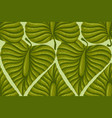 pattern with vintage exotic tropical leaves vector image vector image