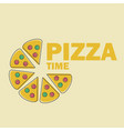 pizza in line art flat style vector image