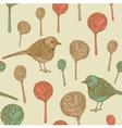Retro Birds Pattern vector image vector image