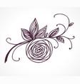 rose flower decorative floral design element vector image vector image