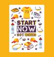 running motivational poster vector image
