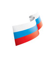 russia flag on a white vector image