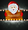 santa claus wishing christmas vector image vector image