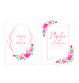 save date wedding card vector image vector image