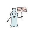 say no to plastic vector image