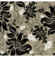 seamless floral twirled pattern vector image vector image