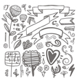 set of hand-drawn decorative elements Wedding vector image vector image