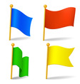 set of vector color cartoon flags vector image