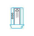 shower cabin linear icon concept shower cabin vector image