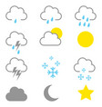 simple graphic of weather icons vector image vector image
