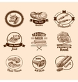 Sketch meat labels vector image vector image
