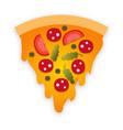 slice pizza vector image vector image