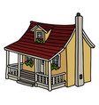 small yellow house vector image vector image