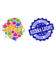 social network map of sierra leone with talk vector image