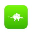 stegosaurus dinosaur icon digital green vector image vector image