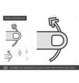 Swipe vertically line icon vector image vector image