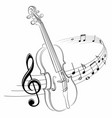 symbol with music notes and violin vector image