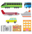 transport and tourism vector image vector image