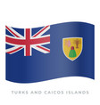 turks and caicos islands waving flag icon vector image vector image
