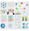 Ui elements of infographics collection vector image