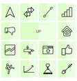 up icons vector image vector image