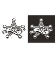 vintage sheriff badge star vector image