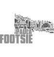 what footsie taught us text word cloud concept vector image vector image