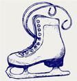 White skates vector image vector image