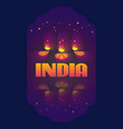indian oil lamp diya vector image