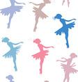 Ballerina seamless pattern vector image
