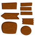 wooden board planks vector image