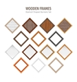 Wooden Diamond-Shaped Banners Set vector image