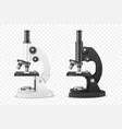 3d realistic white black laboratory vector image
