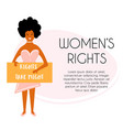 a protesting woman vector image vector image