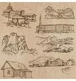 Architecture Famous places - Hand drawn