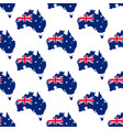 australia map and flag pattern vector image vector image