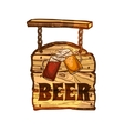 Bar Sign On Wooden Board vector image