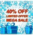 Big winter sale poster with LIMITED OFFER MEGA vector image vector image
