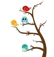 Birds sitting on tree vector image vector image