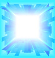 Blue portal in the sky vector image vector image