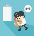 Businessman Leaving Job vector image vector image