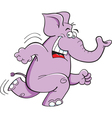 Cartoon Running Elephant vector image vector image