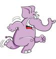 Cartoon Running Elephant vector image vector image
