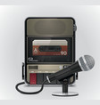 cassette recorder and microphone vector image vector image