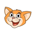 Cat smiling head 2 vector image vector image